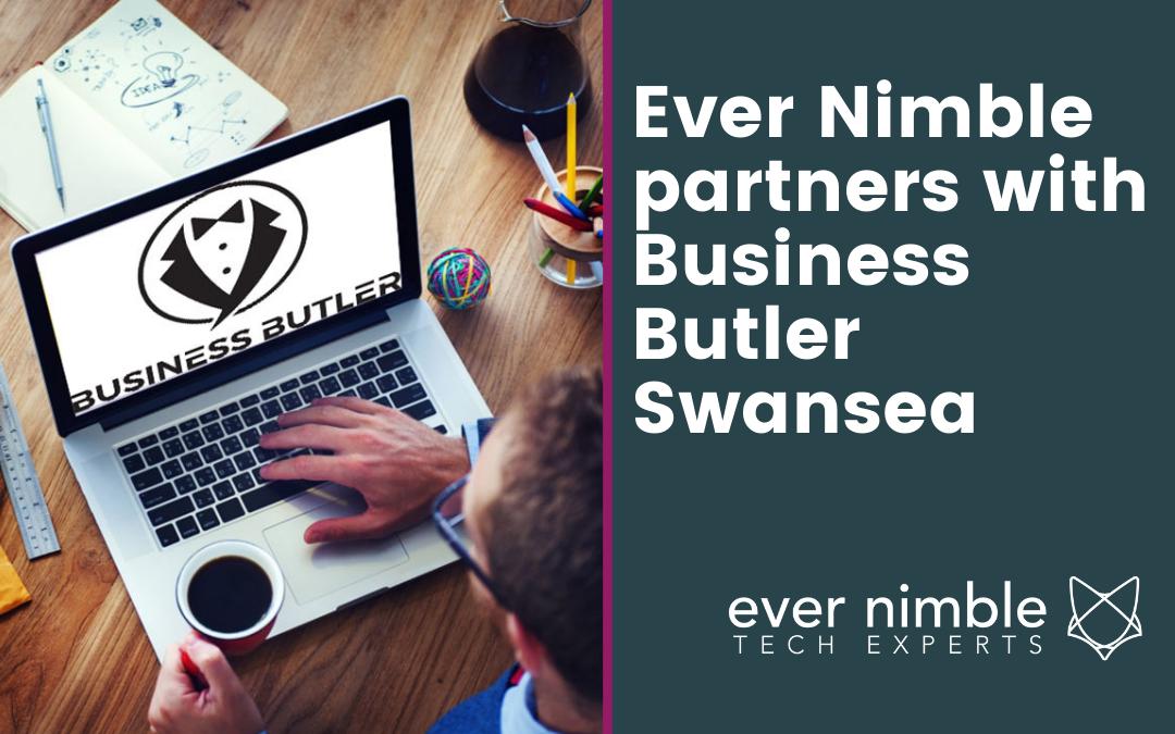 Partnership announcement between Ever Nimble and Business Butler Swansea