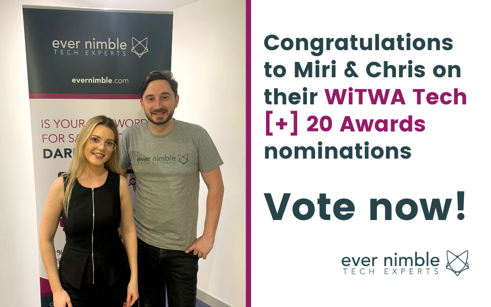 Ever Nimble Nominated in Women in Technology WA Tech [+] Awards