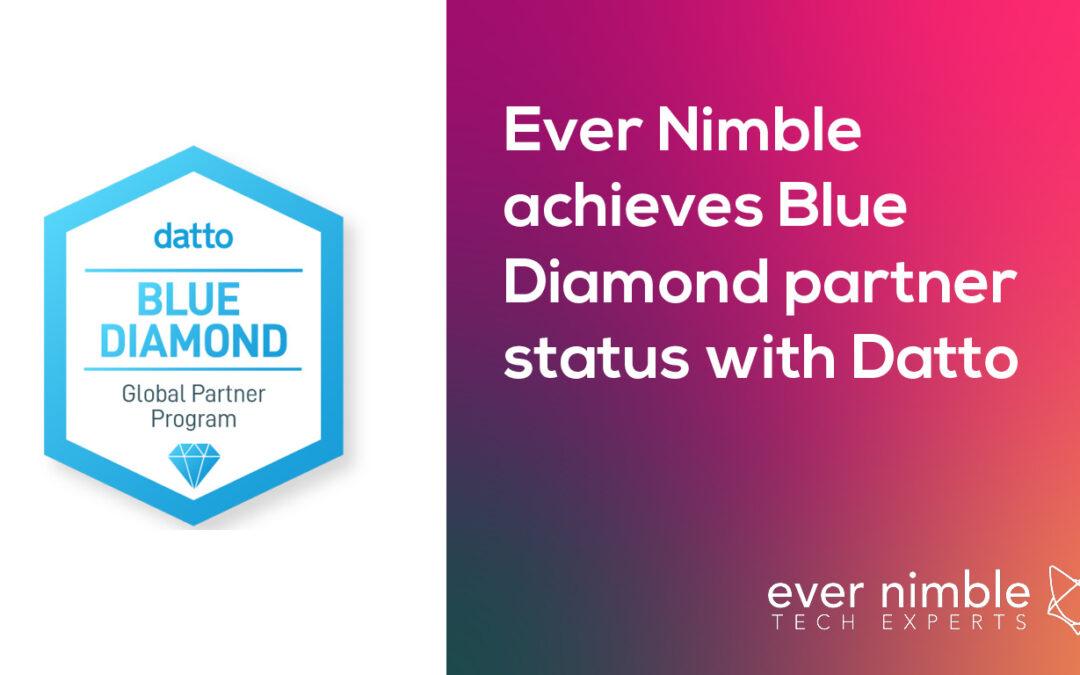 Ever Nimble achieves Blue Diamond partner status with Datto