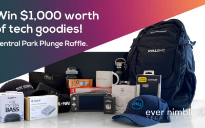 Win $1,000 worth of tech goodies in our Central Park Plunge Raffle!